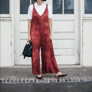 Lacausa Santi Jumpsuit Crimson Tie-Dye